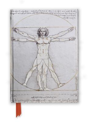 Da Vinci's Vitruvian Man Foiled Journal