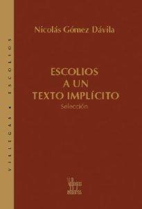 Escolios a Un Texto Implicito