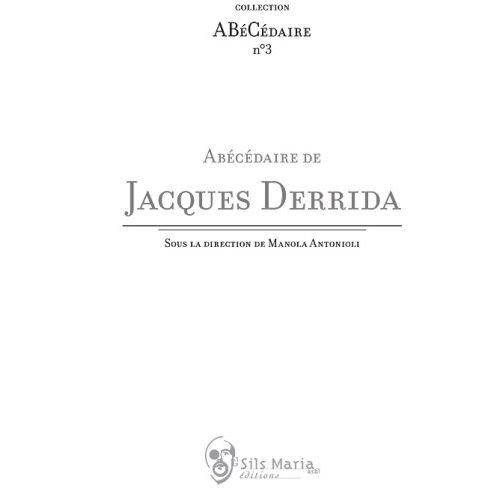 Abécédaire de Jacques Derrida