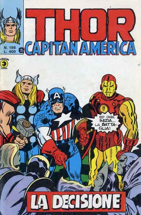 Thor e Capitan America (Il Mitico Thor) n. 198