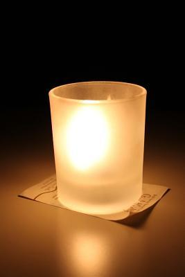 Glowing Candle Lined Journal