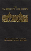 The Letters and Charters of Cardinal Guala Bicchieri, Papal Legate in England, 1216-1218