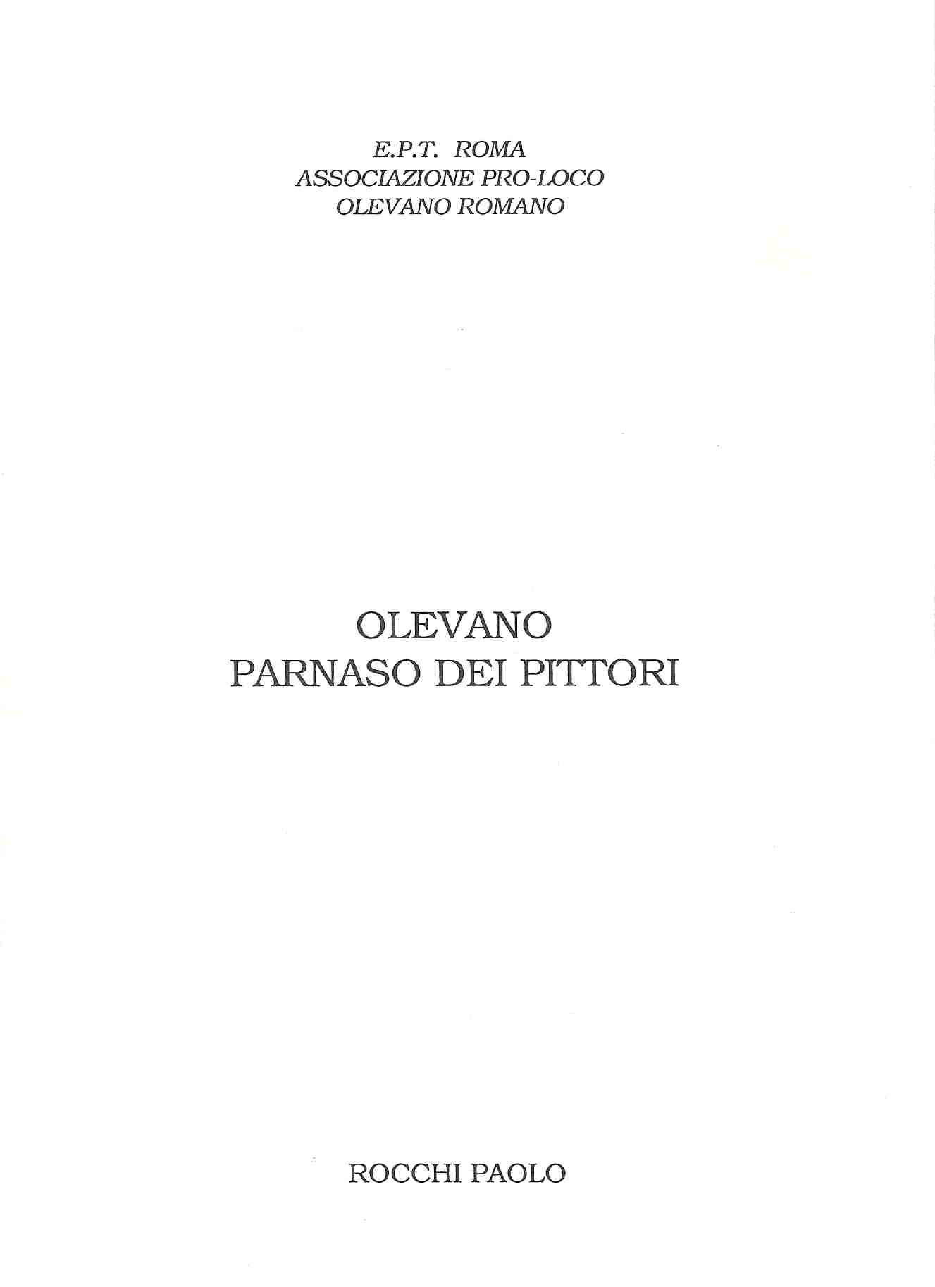 Olevano: Parnaso dei pittori