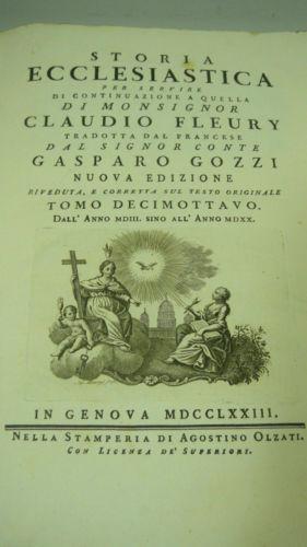 Storia ecclesiastica - Tomo 18