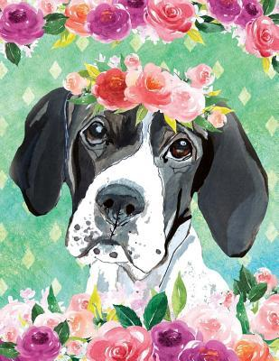 My Big Fat Journal Noteboook For Dog Lovers English Pointer In Flowers