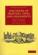 Specimens of Printing Types and Ornaments