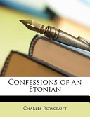 Confessions of an Etonian