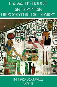 Egyptian Hieroglyphic Dictionary, Part 2