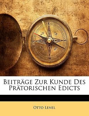 Beiträge Zur Kunde Des Prätorischen Edicts