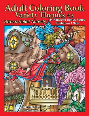 Adult Coloring Book Variety Themes #2