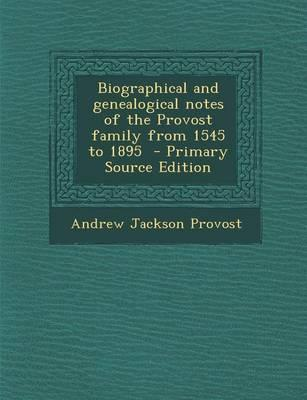 Biographical and Gen...