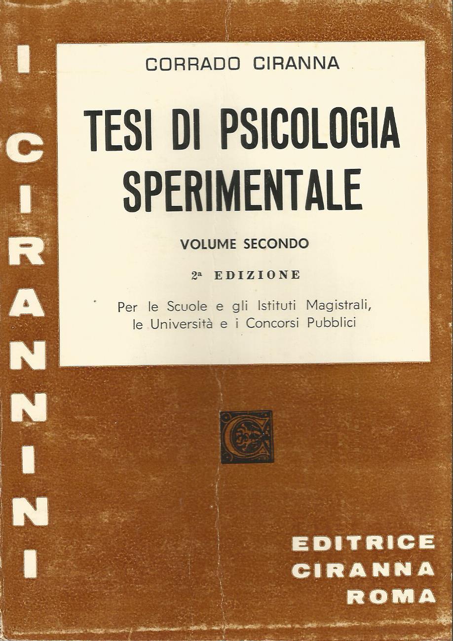 Tesi di psicologia sperimentale - Vol.2