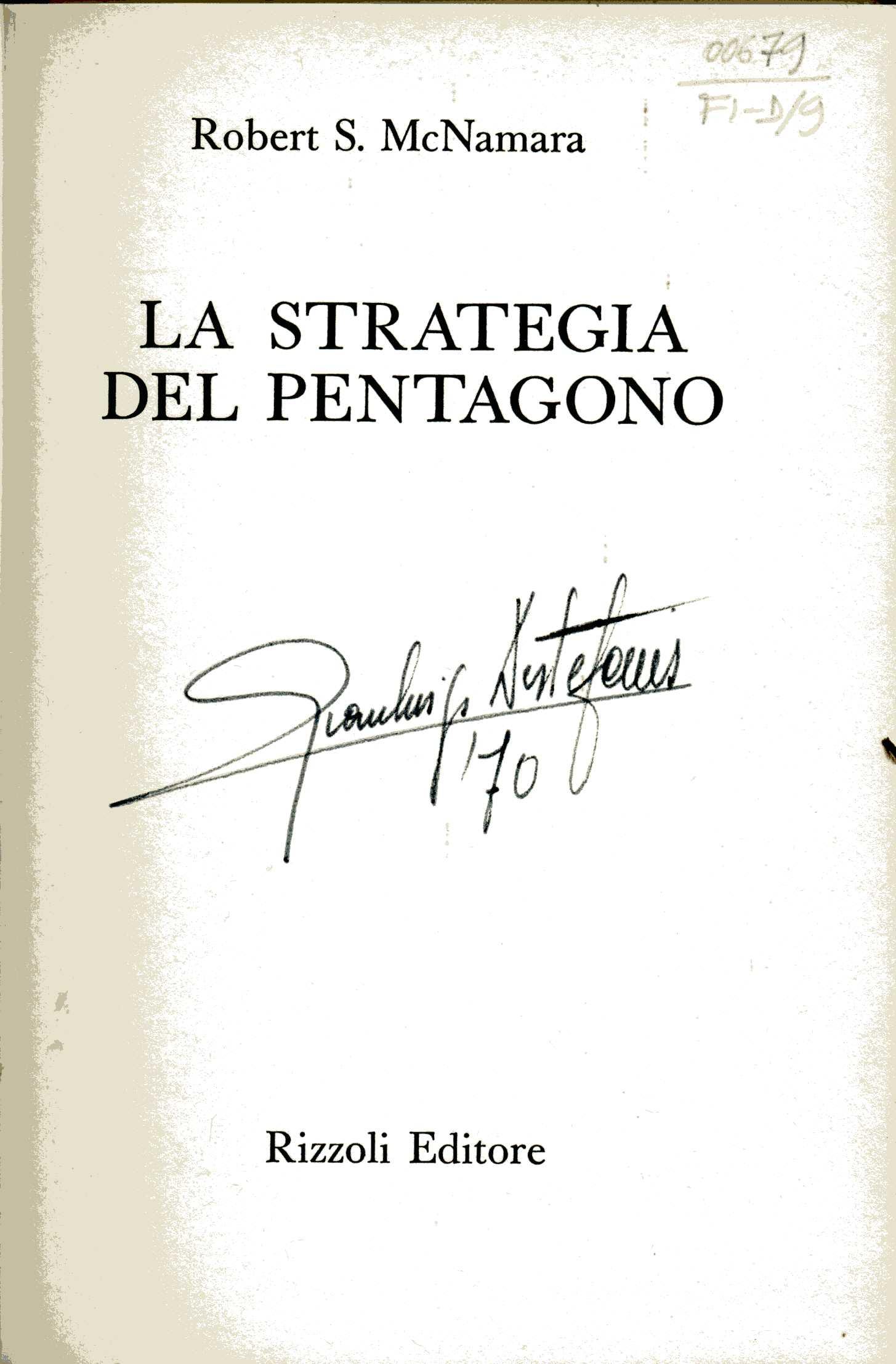 La strategia del Pentagono