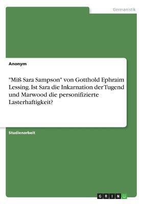 """""""Miß Sara Sampson"""" ..."""
