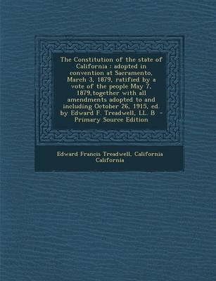 The Constitution of the State of California