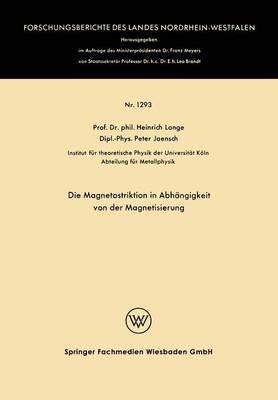 Die Magnetostriktion in Abhängigkeit Von Der Magnetisierung