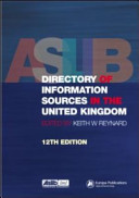 Aslib Directory of Information Sources in the United Kingdom