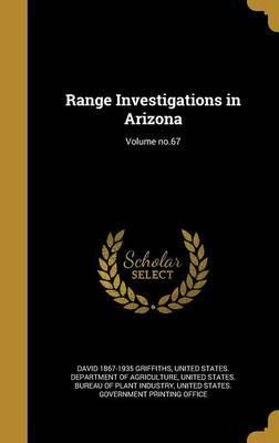 RANGE INVESTIGATIONS IN ARIZON