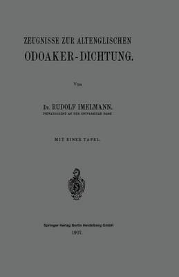 Zeugnisse zur Altenglischen Odoaker-Dichtung
