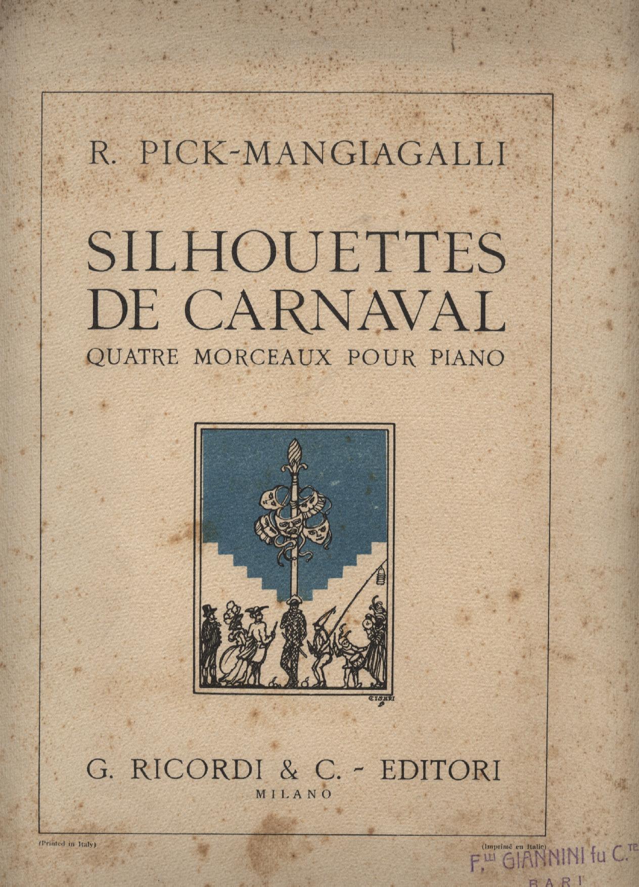 Silhouettes de Carnaval, Quatre Morceaux Pour Piano