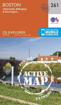 OS Explorer Map Active (261) Boston