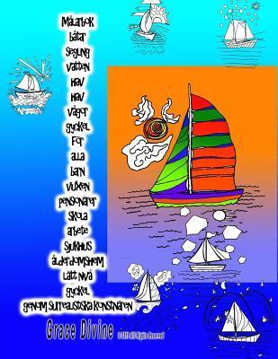 Målarbok Båtar Segling Gyckel För Alla