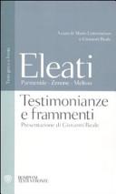 Eleati: Parmenide, Zenone, Melisso