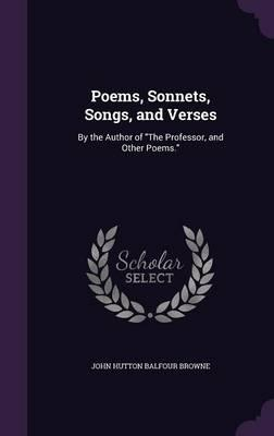 Poems, Sonnets, Song...