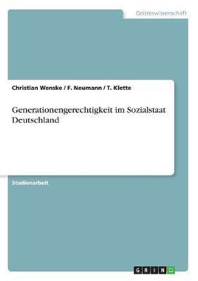 Generationengerechtigkeit im Sozialstaat Deutschland