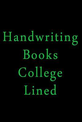 Handwriting Books College Lined