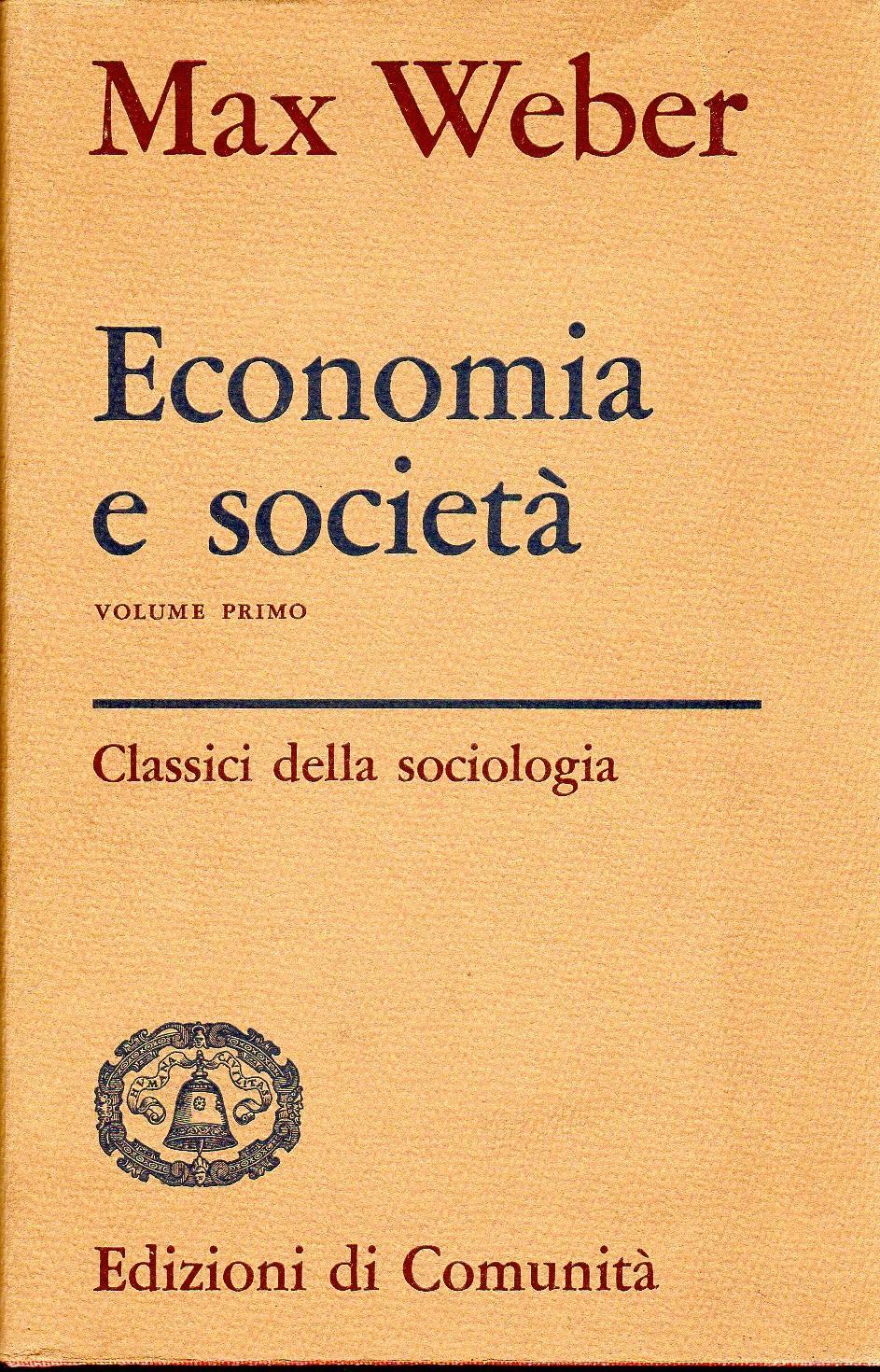 Economia e società - Volume 1