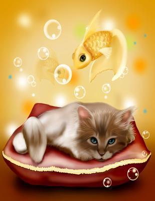 Kitten Fish Notebook