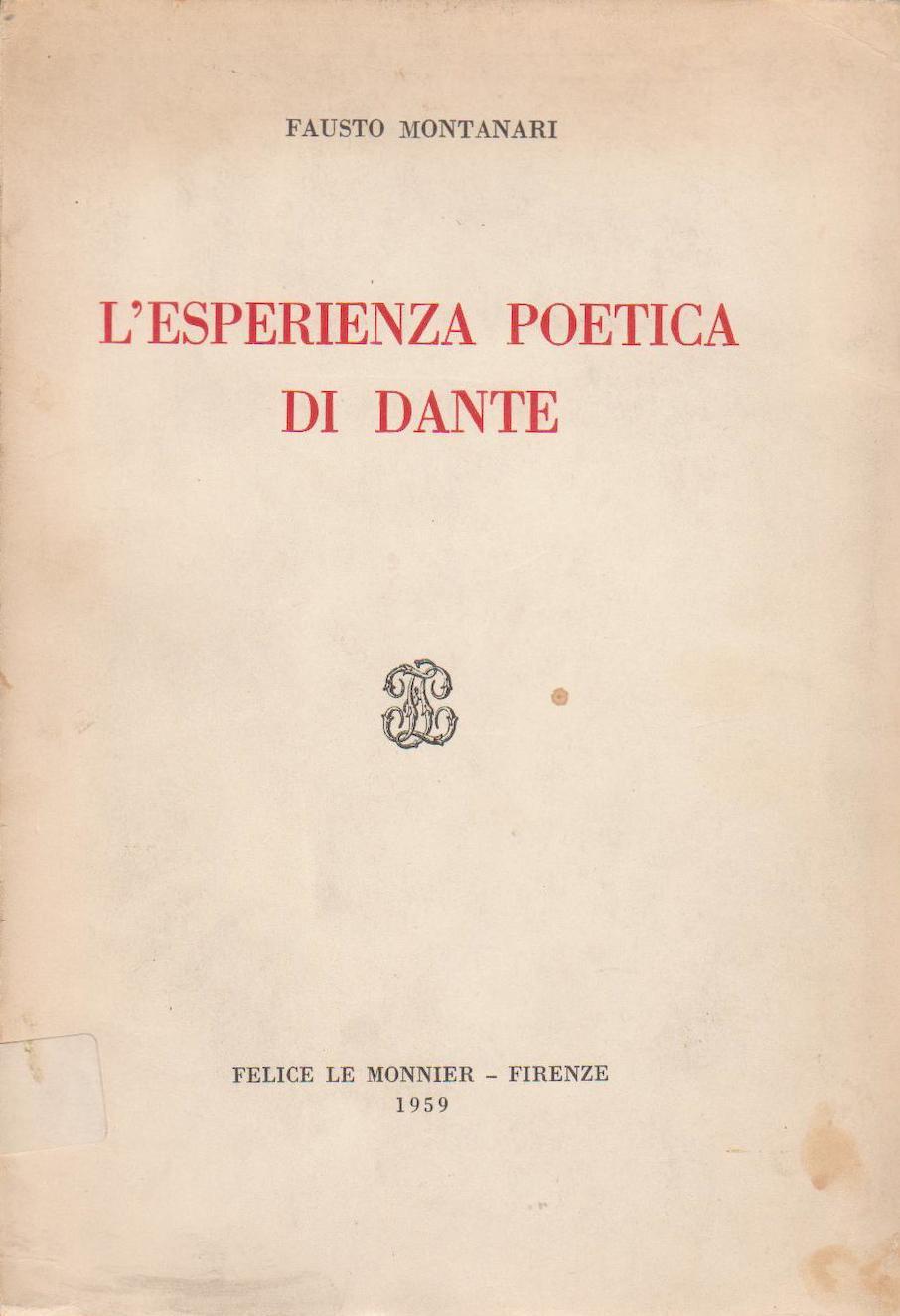 L'esperienza poetica di Dante