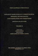 Catalogus Translationum Et Commentariorum
