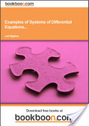 Examples of Systems of Differential Equations...
