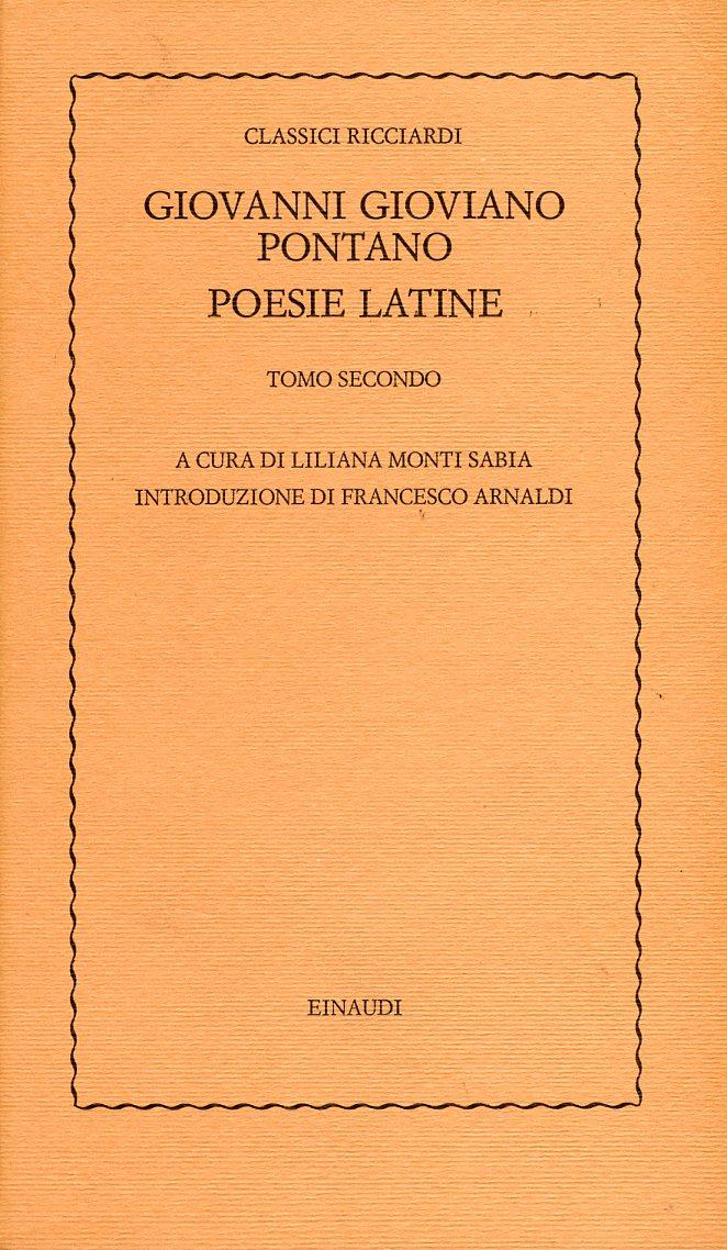 Poesie latine - Tomo secondo