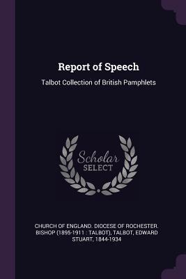 Report of Speech