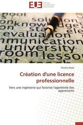 Creation d'une Licence Professionnelle