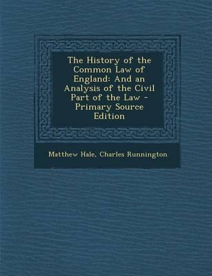 The History of the Common Law of England