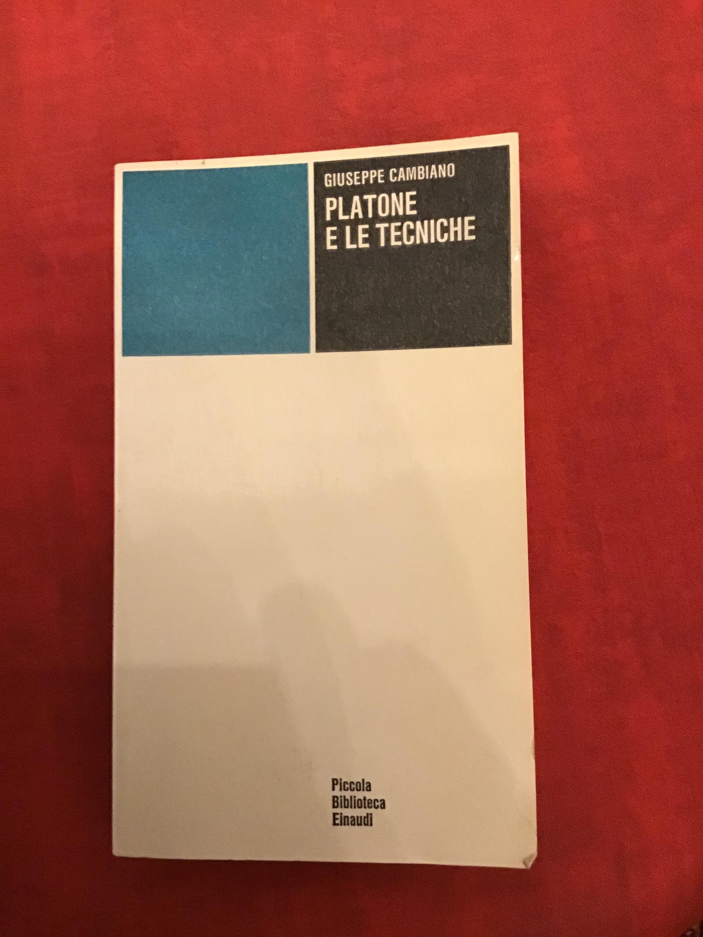 Platone e le tecniche