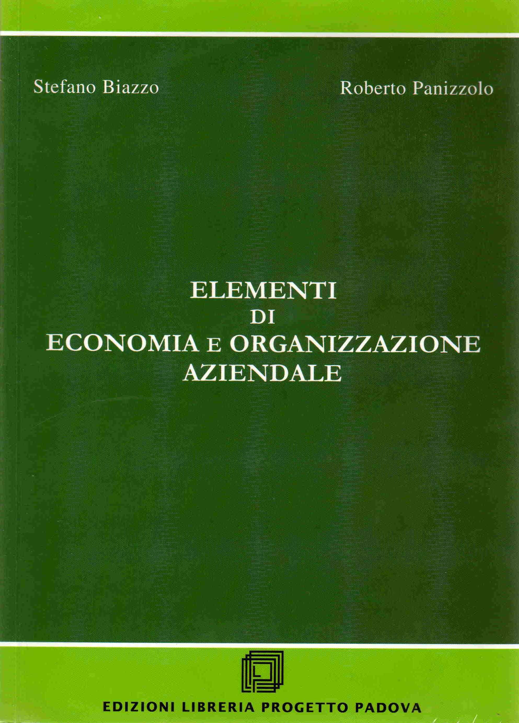 Elementi di economia e organizzazione aziendale