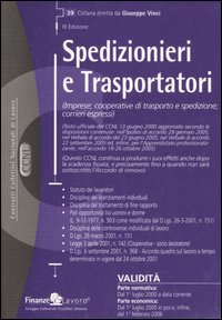CCNL spedizionieri e trasportatori