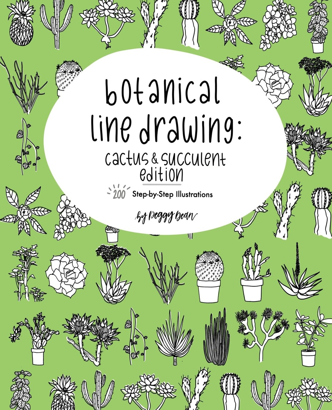 Botanical Line Drawing: Cacti & Succulent Edition