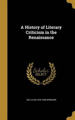 HIST OF LITERARY CRI...