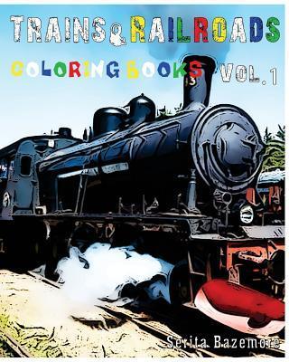 Trains & Railroads Coloring Book