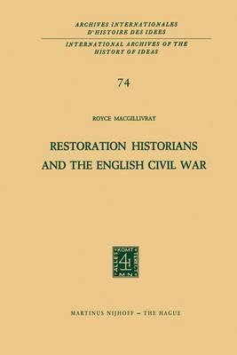 Restoration Historians and the English Civil War