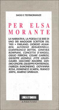 Per Elsa Morante