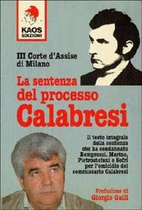 La sentenza del processo Calabresi