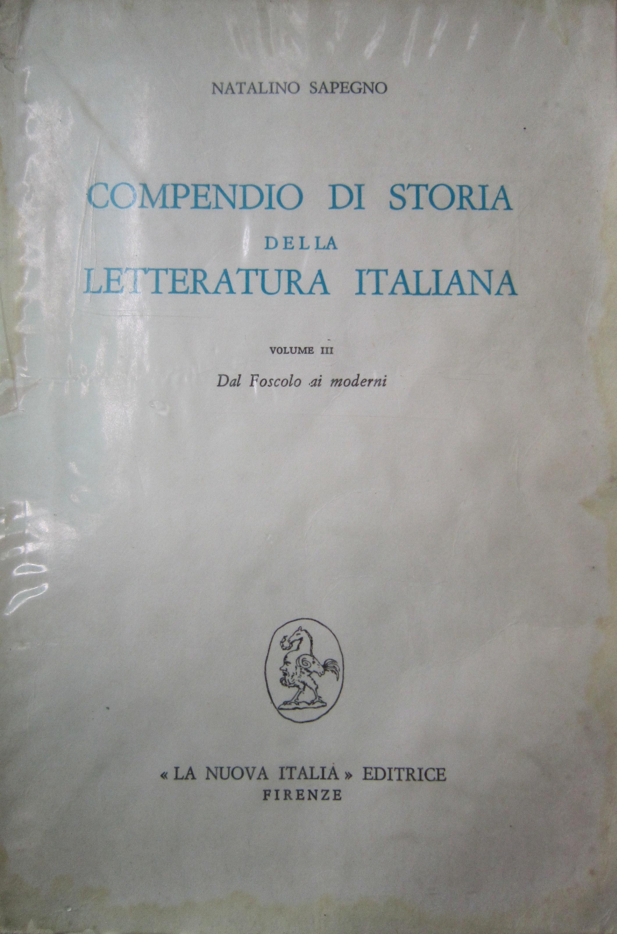 Compendio di storia della letteratura italiana