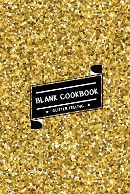 Gold Shining Glitter Blank Cookbook